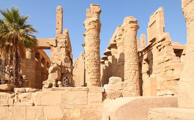 Columns of the karnak temple in egypt