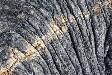 surface de lave cordée du Piton de la Fournaise, Réunion