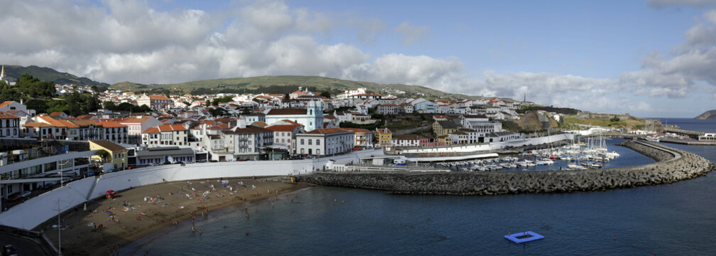 Blick auf Angra do Heroismo  - Terceira