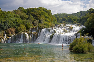 Waterfalls at Krka National Park, Croatia