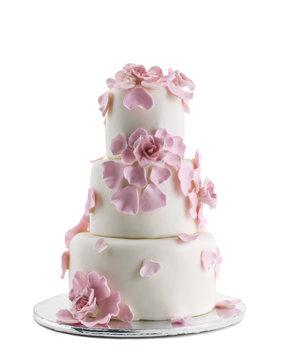 Wedding Cake Isolated On White Background
