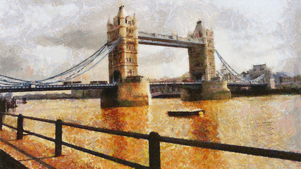 London Bridge Illustration