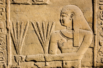 Tuinposter Egypte Ancient Egyptian Priest with Wheat