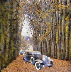 Vintage Car Art Collection