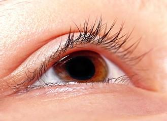 Open eye with brown iris