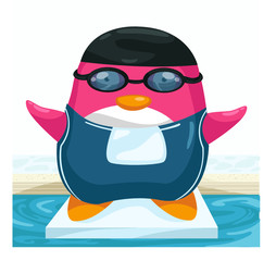 Swimmer penguin