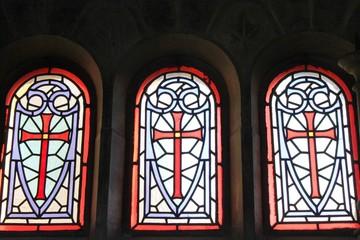 Foto op Plexiglas Stained Cimetière-du-Père-Lachaise:Vitraux