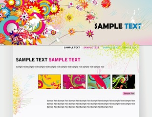 website modern design vector