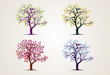 Collection tree, Vector illustration