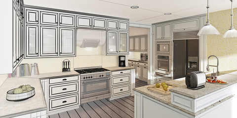Classical Kitchen Design (3d)