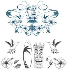 Hawaii Outline Vector Illustration