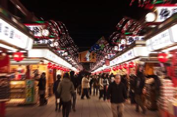Foto auf AluDibond Tokio Nakamise dori à Asakusa, Tokyo - Japan
