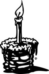 Birthday cake.FastFood.