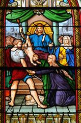 Foto op Plexiglas Stained France, église Saint Pierre, Saint Paul, Les Mureaux