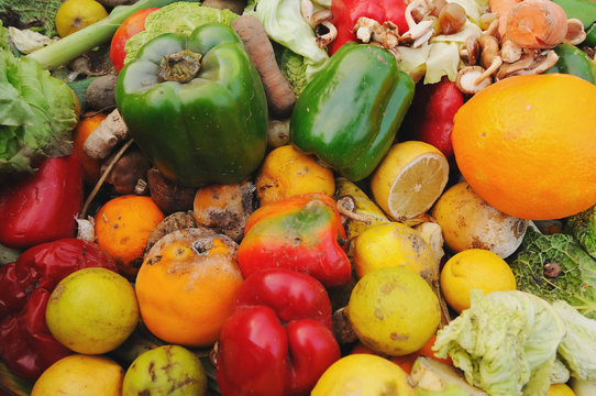 Rotten fruit and vegetables