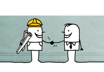foreman & man handshaking