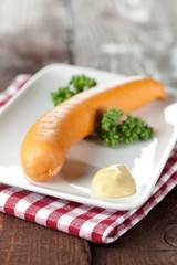 Bockwurst mit Senf
