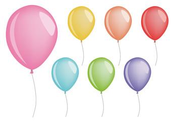 set of vector balloons