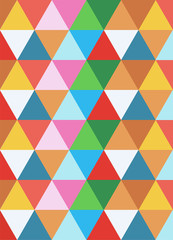 Autocollant pour porte ZigZag geometric colorful background