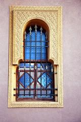 Fenster einer Moschee in Marrakesch 612