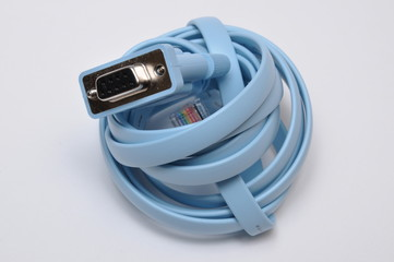 Blue UTP network cable