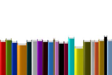 Bücher in verschiedenen Farben
