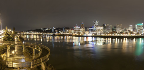 Fototapete - Landscape of Portland, Oregon, USA.
