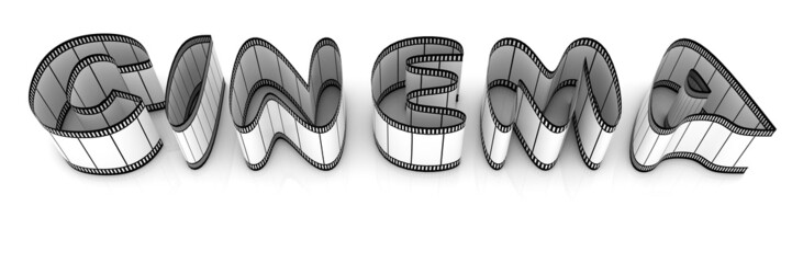 """Word """"cinema"""" from film strips"""