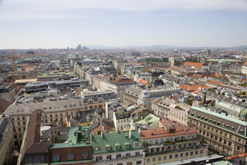 Vienna from st. Stephen cathedral