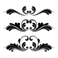 floral ornaments graphic design, vector illustration