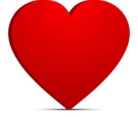 grand coeur sur fond blanc en 3d