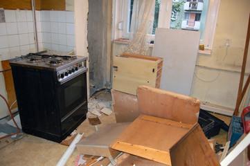 Renovating kitchen, first stage - demolition