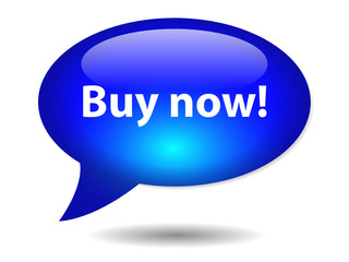 """BUY NOW!"" Speech Bubble Icon (offers specials sale order button"
