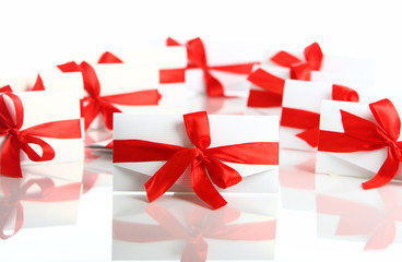 Gift envelope with awesome red bow