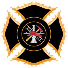 Fire Department Maltese Cross Symbol