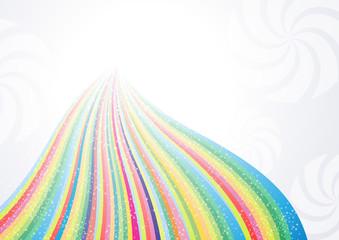 Abstract rainbow arrow banner