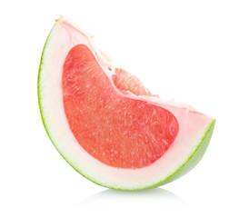 red pomelo slice