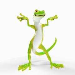 gecko cartoon weird freestyle