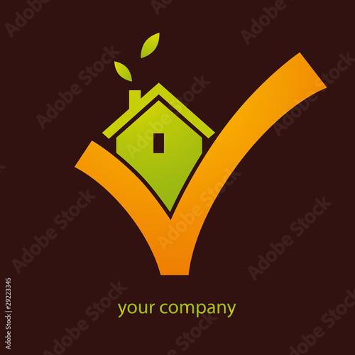 Logo entreprise construction maison fichier vectoriel for Entreprise construction maison