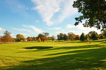 Golf course in Stirling Park, Stirlingshire, Scotland,