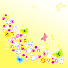 abstract background of yellow flower