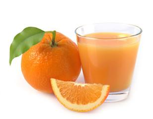 orange and juice glass