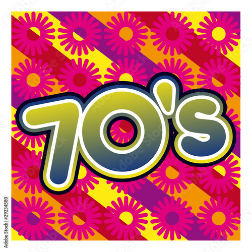 Ann Es 70 Seventies Pop Hippie Disco Kitsch Musique Poque Fichier Vectoriel Libre De Droits