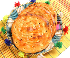Lacha Paratha on Traditional Napkin Top