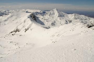 Winter landscape in Retezat mountain, Romania