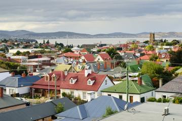 Suburban rooftops, Hobart, Tasmania