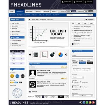 Web Website Design Element Template