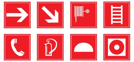 Brandschutzzeichen Set