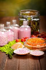 Aromatherapy - bath salt and shells