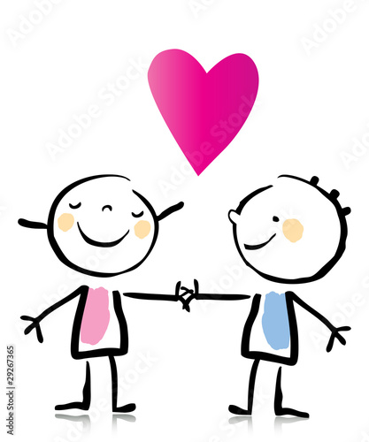 Valentine S Day Couple Cartoon Stock Image And Royalty Free Vector